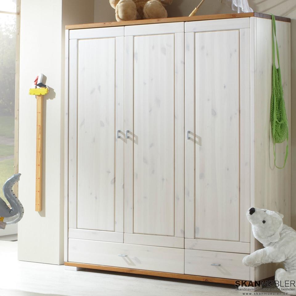 kleiderschrank f r kinderzimmer babyzimmer guldborg bild 3. Black Bedroom Furniture Sets. Home Design Ideas