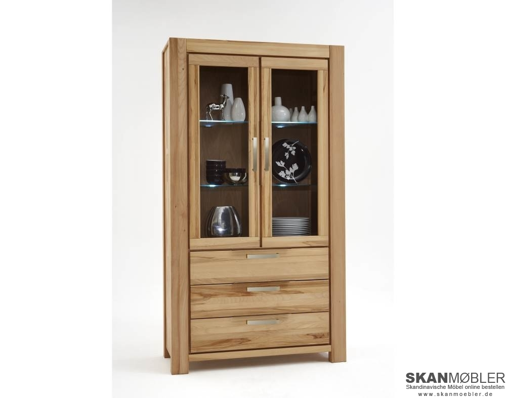 vitrine nala 2 t rig von elfo g nstig bestellen bei skanm bler. Black Bedroom Furniture Sets. Home Design Ideas