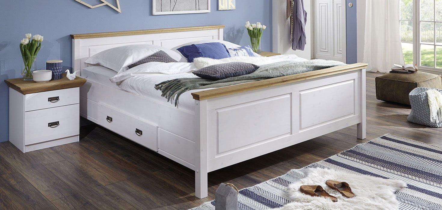 Schlafzimmer Bergen Kiefer Massiv, Bild 2