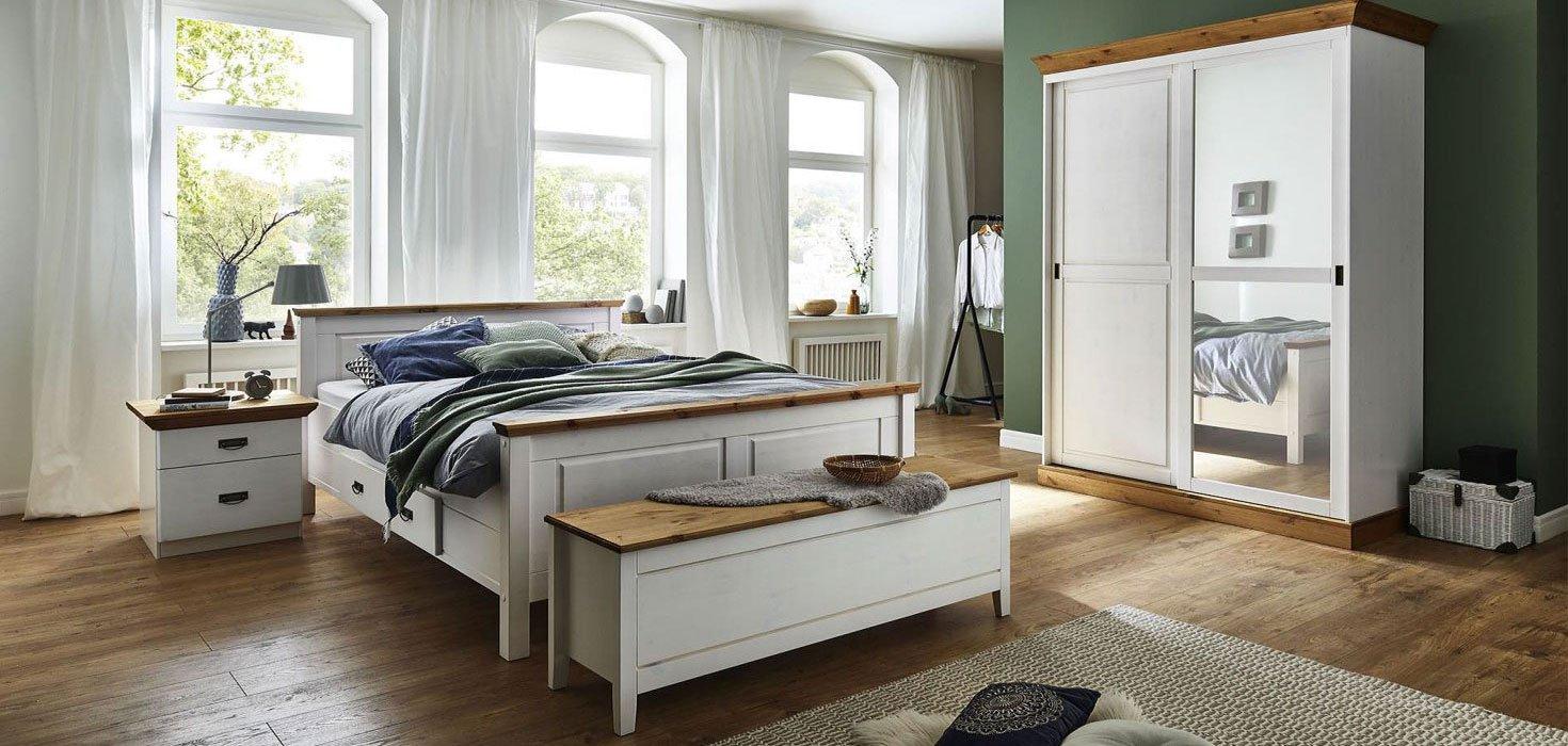 Schlafzimmer Bergen Kiefer Massiv, Bild 1