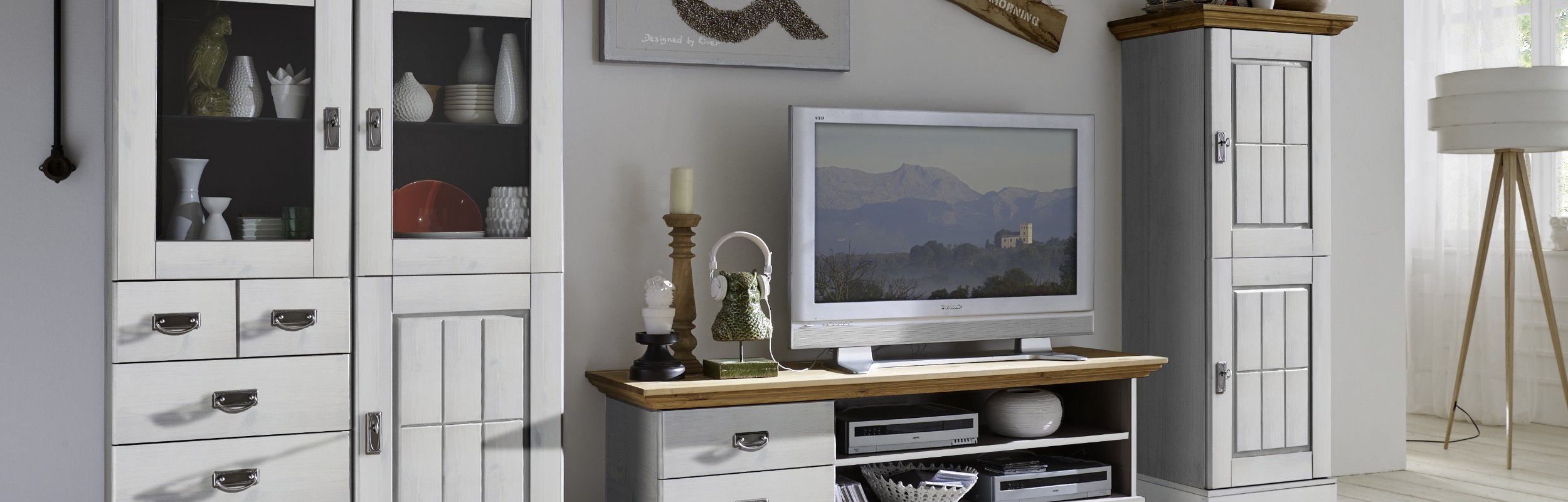 Wohnzimmer Landhausstil Serie Fjord, Bild 4