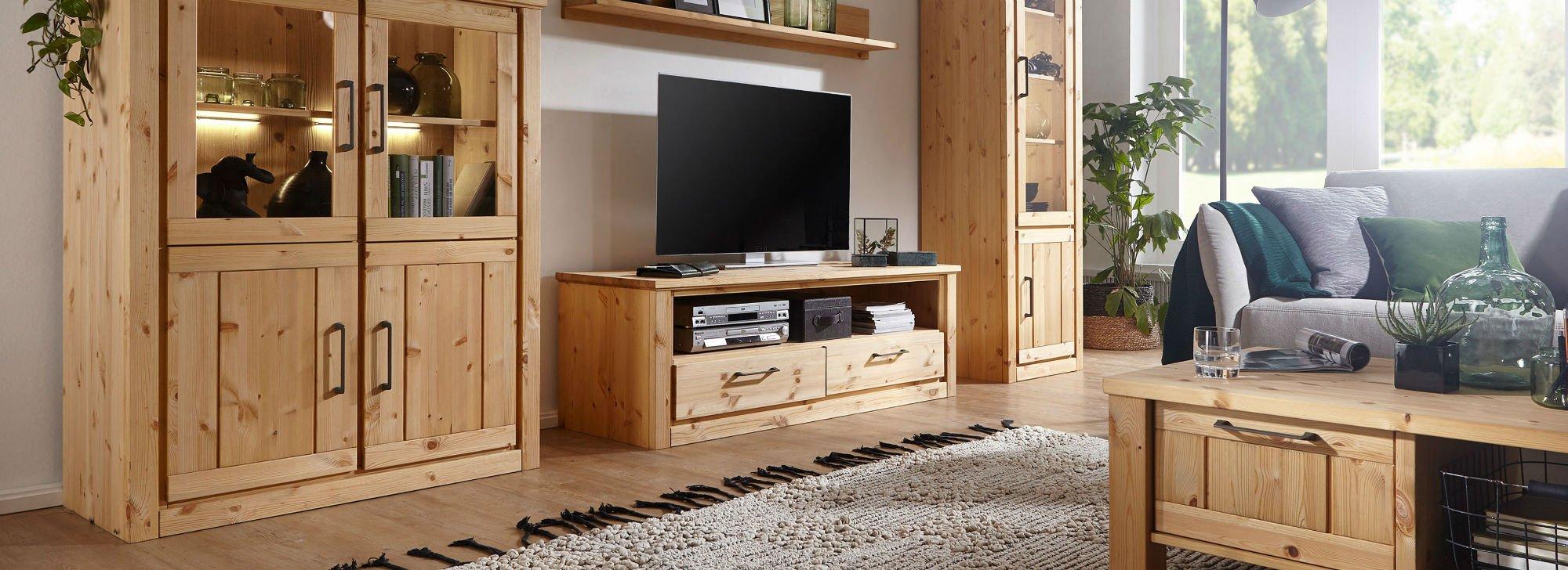 Wohnzimmer und Esszimmer Serie Molde Kiefer Massiv, Bild 4