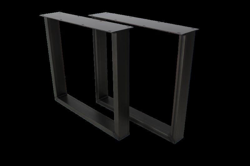 2er Set Tischbeine  U-Modell Metall, Bild 2