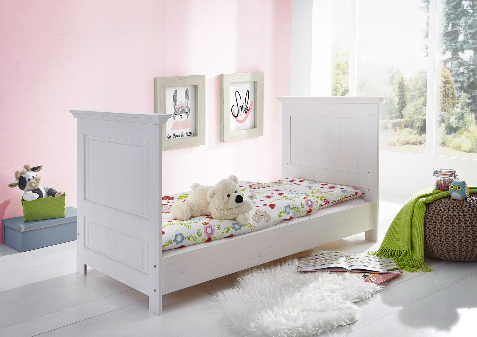 babyzimmer odette kiefer massiv von g k g nstig bestellen. Black Bedroom Furniture Sets. Home Design Ideas