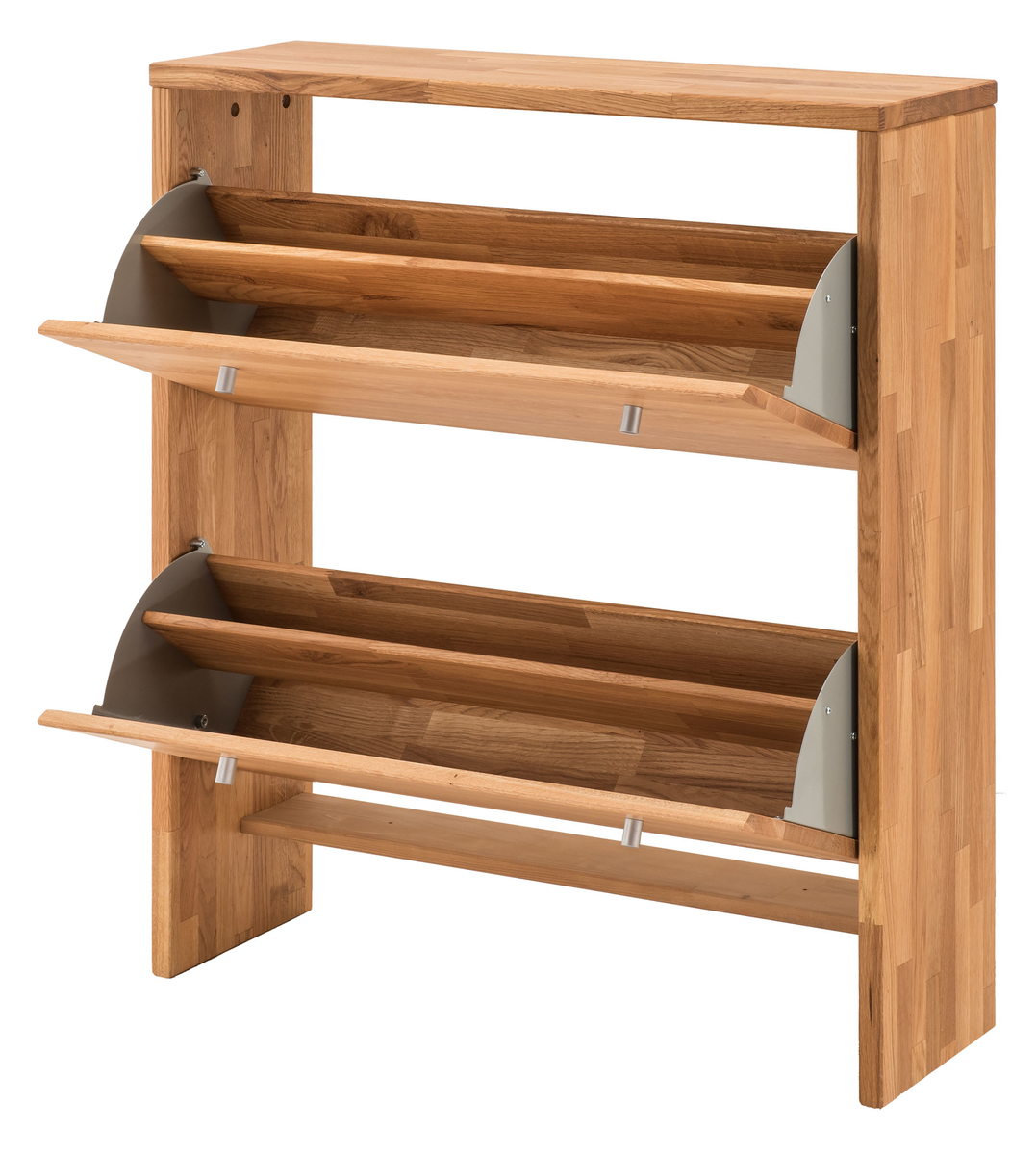 D nischer garderoben schuhschrank wildeiche massivholz for Schuhschrank massivholz