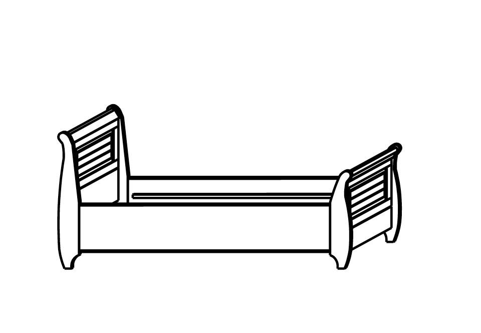 Einzelbett skandinavisch weiß SKANDIC, Bild 2