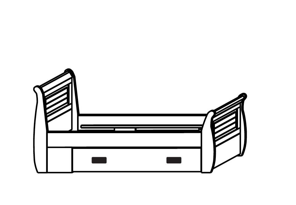 Einzelbett skandinavisch weiß SKANDIC, Bild 3