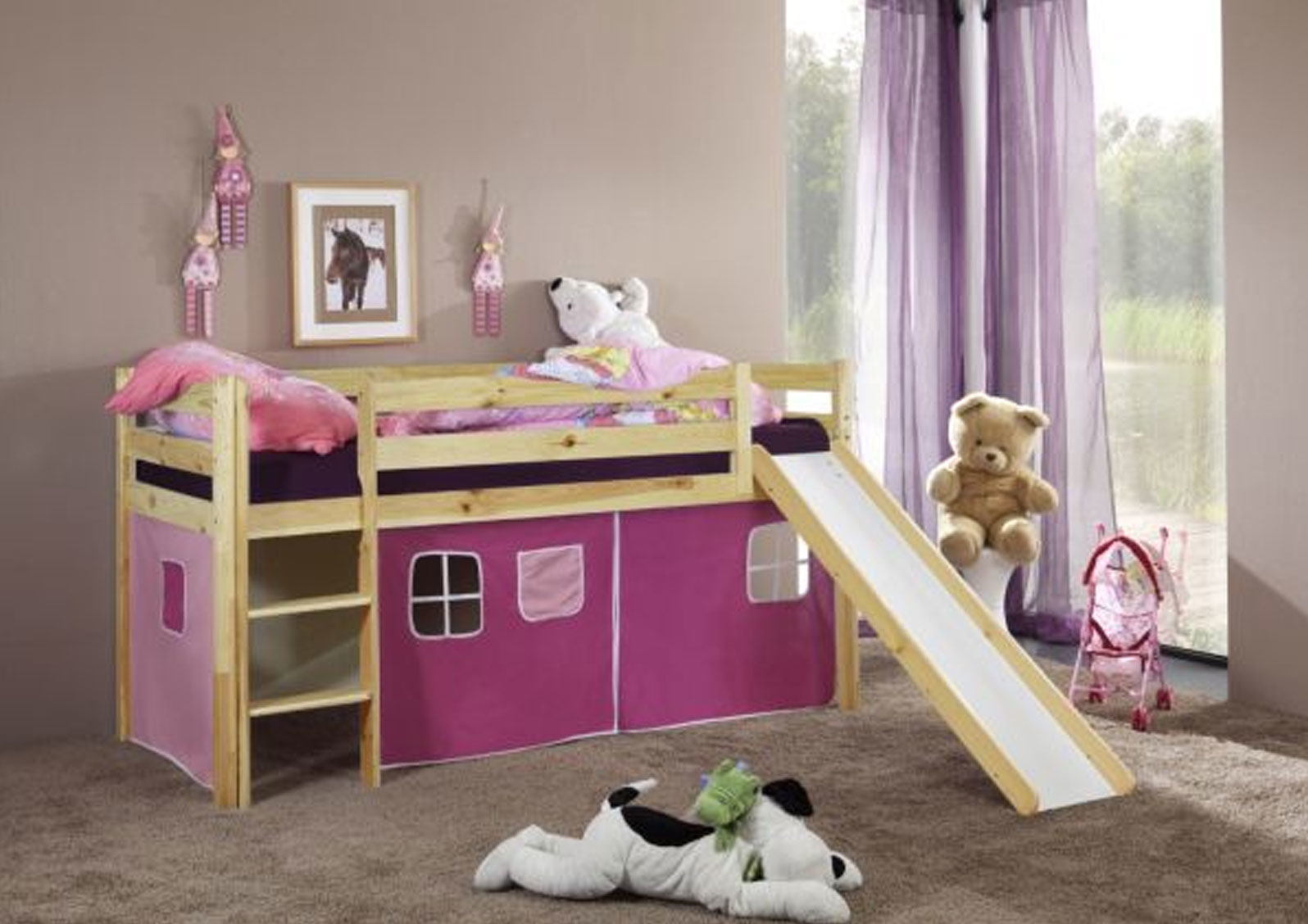 gnstige hochbetten mit rutsche latest hochbetten x cm spielbett mit rutsche und turm kinderbett. Black Bedroom Furniture Sets. Home Design Ideas