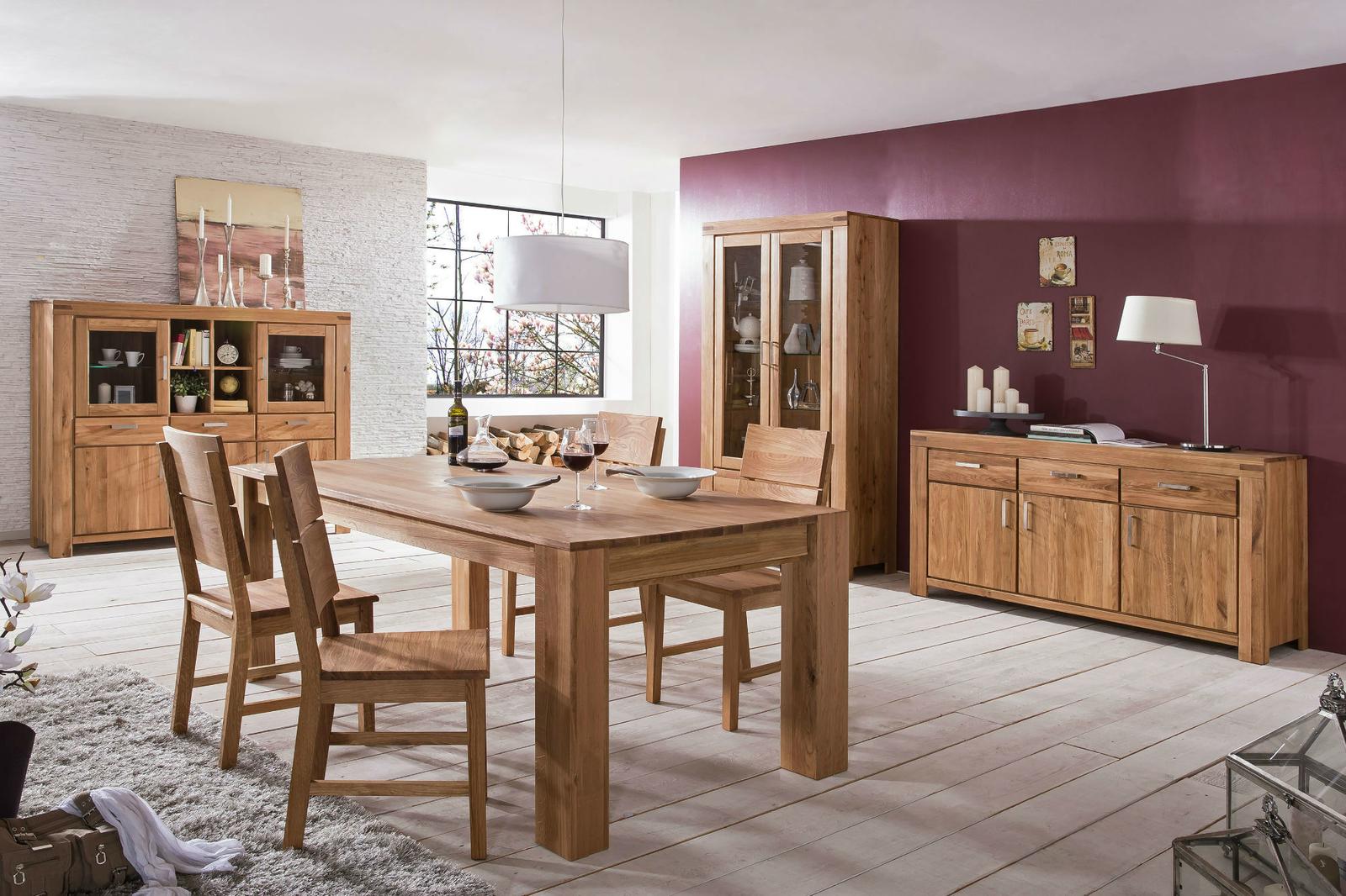 Esstisch mit Gestellauszug Lissy aus Massivholz, Bild 2