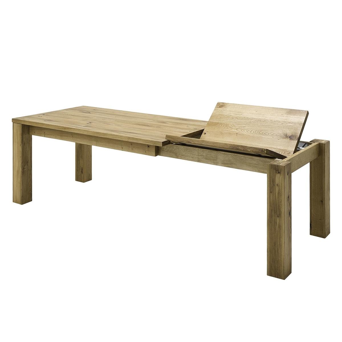 Esstisch mit Gestellauszug Lissy aus Massivholz