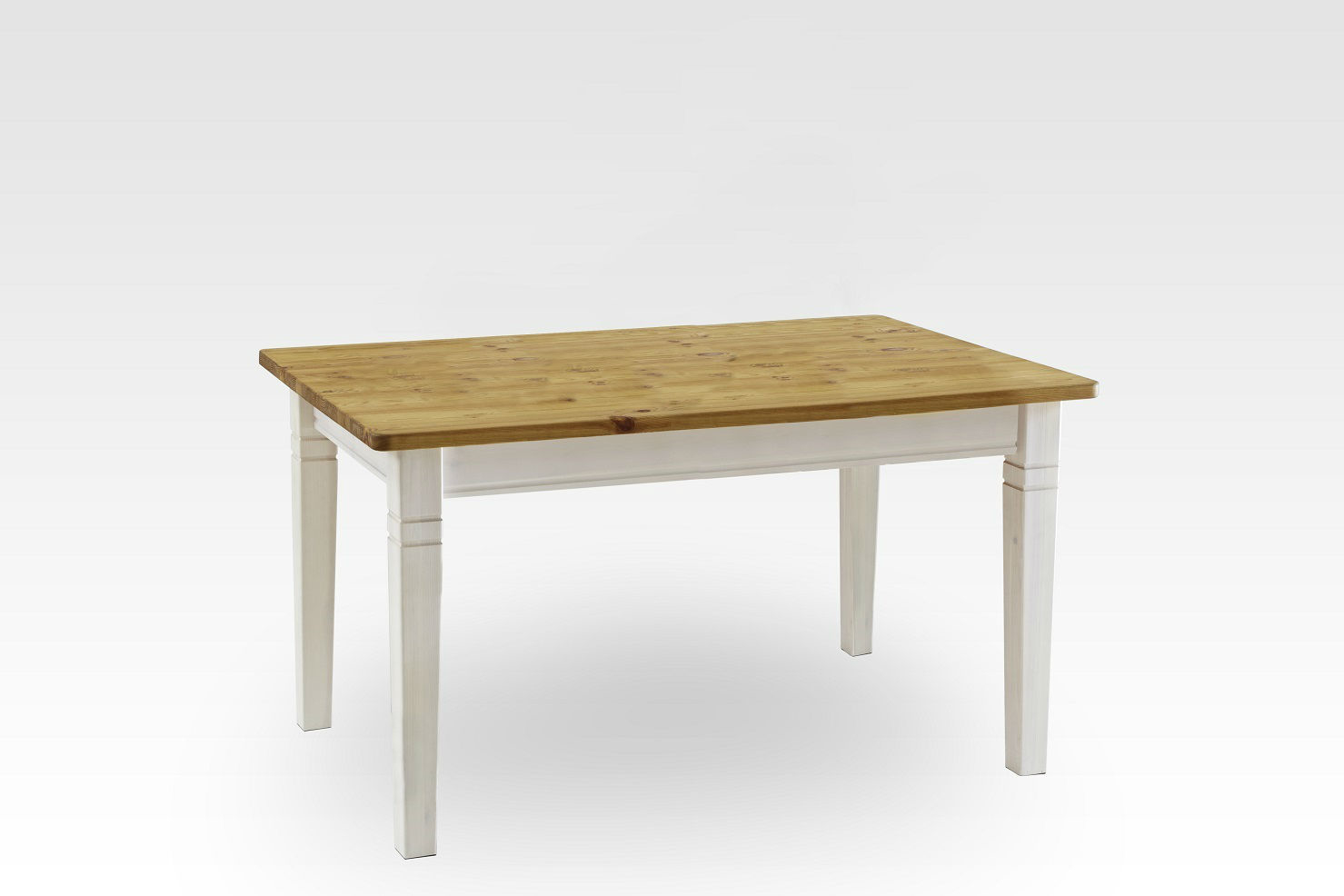 Esszimmer Tisch Bergen rechteckig Landhausstil, 120 x 78 cm, komplett gelaugt geölt