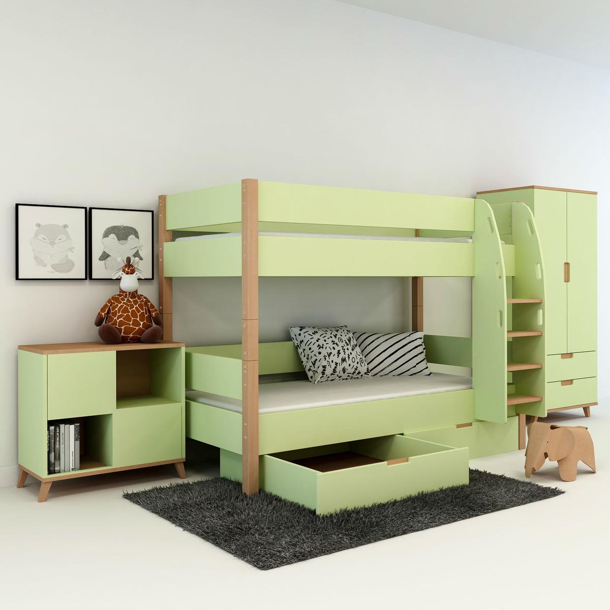 etagenbett mit bettkasten f r kinder und jugendliche. Black Bedroom Furniture Sets. Home Design Ideas