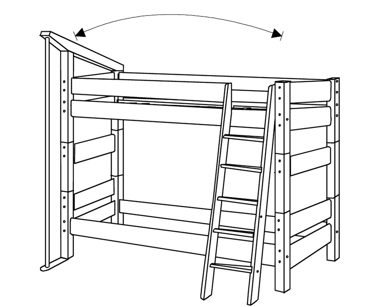 feuerwehr etagenbett moby f r kinder von dolphin g nstig. Black Bedroom Furniture Sets. Home Design Ideas