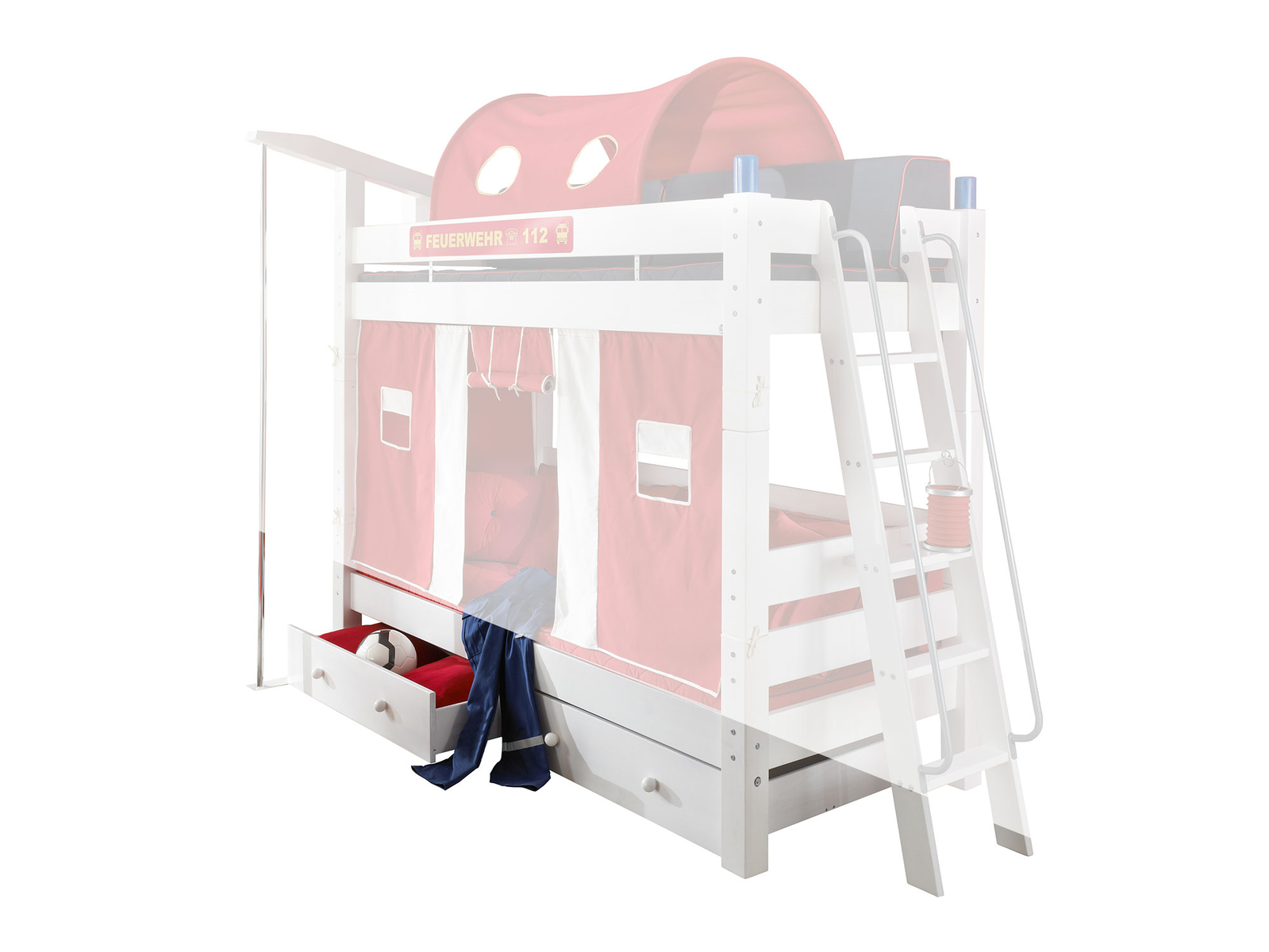 Feuerwehr Etagenbett Moby für Kinder, Bild 6