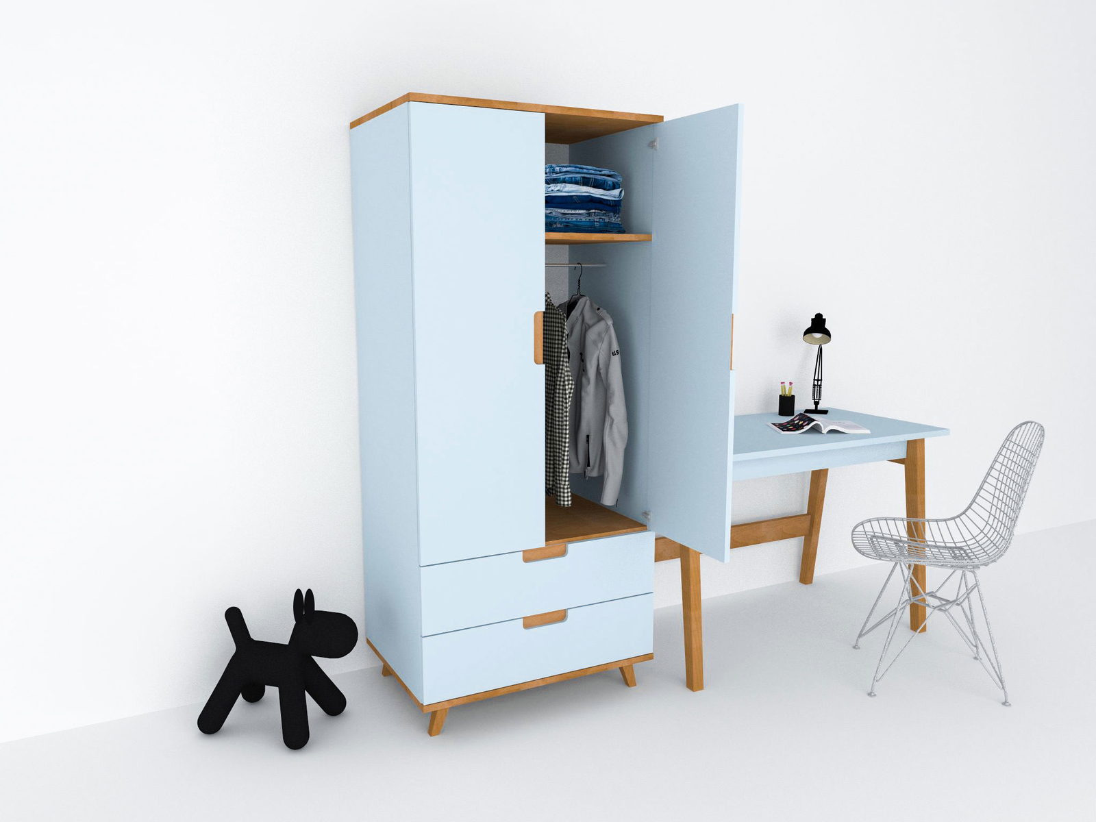 gro er kinder kleiderschrank colorland von colorland. Black Bedroom Furniture Sets. Home Design Ideas