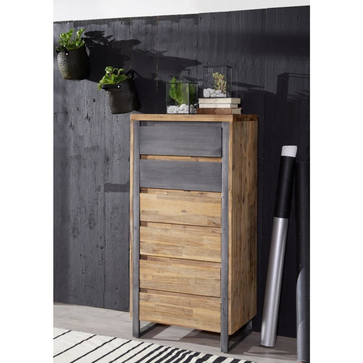 Highboard Byrum Massive Akazie