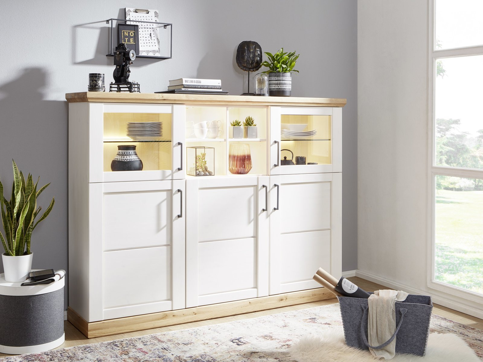 Highboard III Hagebro Massive Kiefer