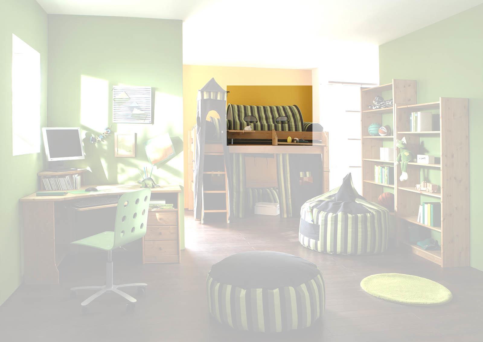 Kinderzimmer Hochbett Forest aus Massivholz, Bild 4