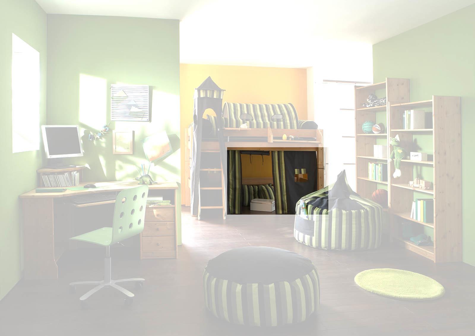 Kinderzimmer Hochbett Forest aus Massivholz, Bild 6