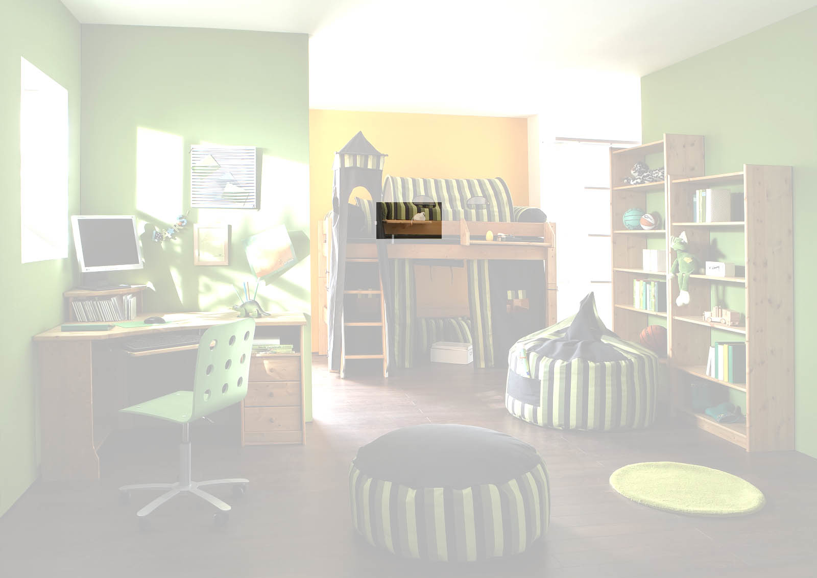 Kinderzimmer Hochbett Forest aus Massivholz, Bild 7