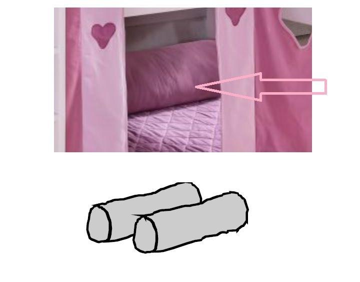 Kinderzimmer Rosa Herzen - Halbhohes Bett mit Leiter von Dolphin Moby, Bild 5
