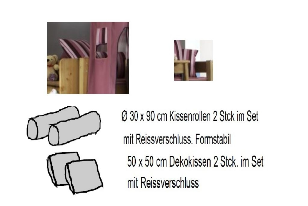 Kinderzimmer Schlafzauber, Bett mit Leiter und Rutsche, Bild 4