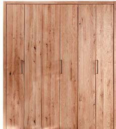 Kleiderschrank Falttürenschrank Rödemis Wildeiche Massivholz, Bild 13