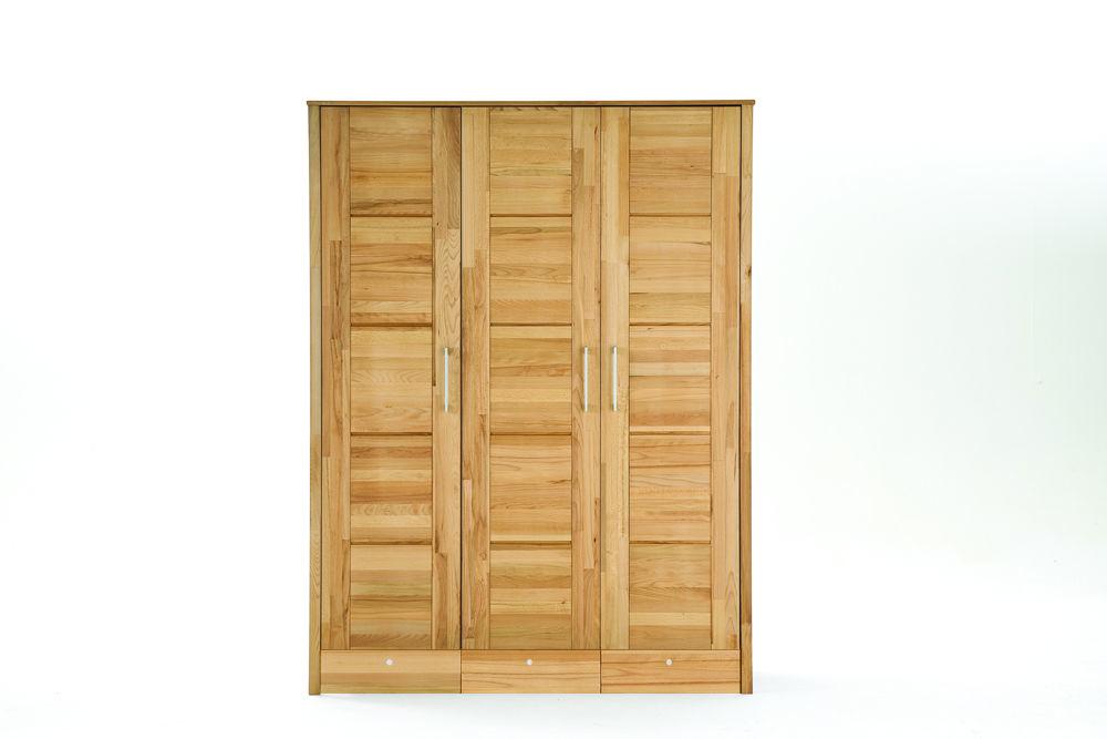 Kleiderschrank Modern Zen aus Massivholz mit Kassettentüren, Bild 6