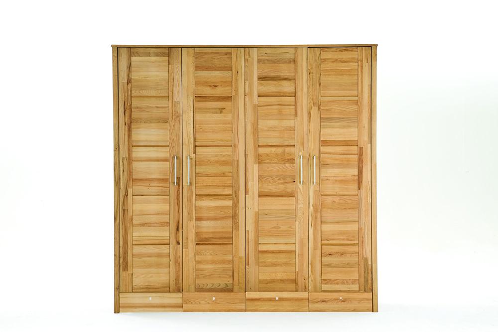 Kleiderschrank Modern Zen aus Massivholz mit Kassettentüren, Bild 2
