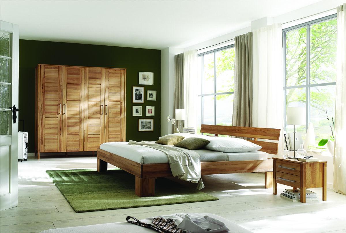 Kleiderschrank Modern Zen aus Massivholz mit Kassettentüren, Bild 3