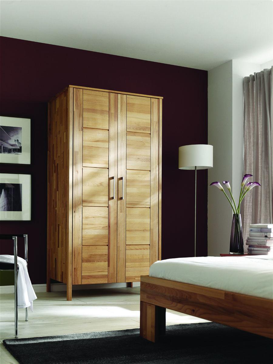 Kleiderschrank Modern Zen aus Massivholz mit Kassettentüren, Bild 10
