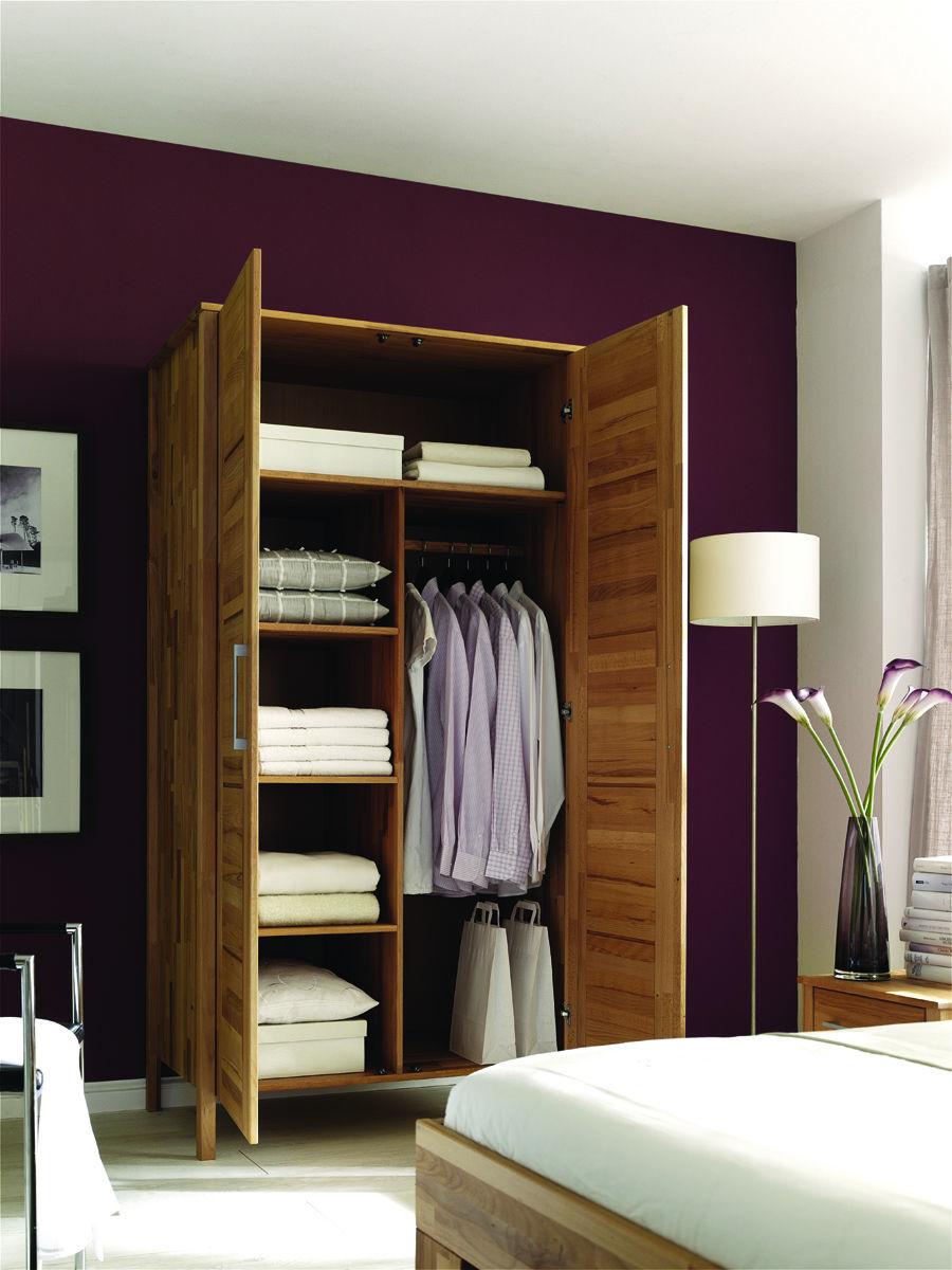 Kleiderschrank Modern Zen aus Massivholz mit Kassettentüren, Bild 11