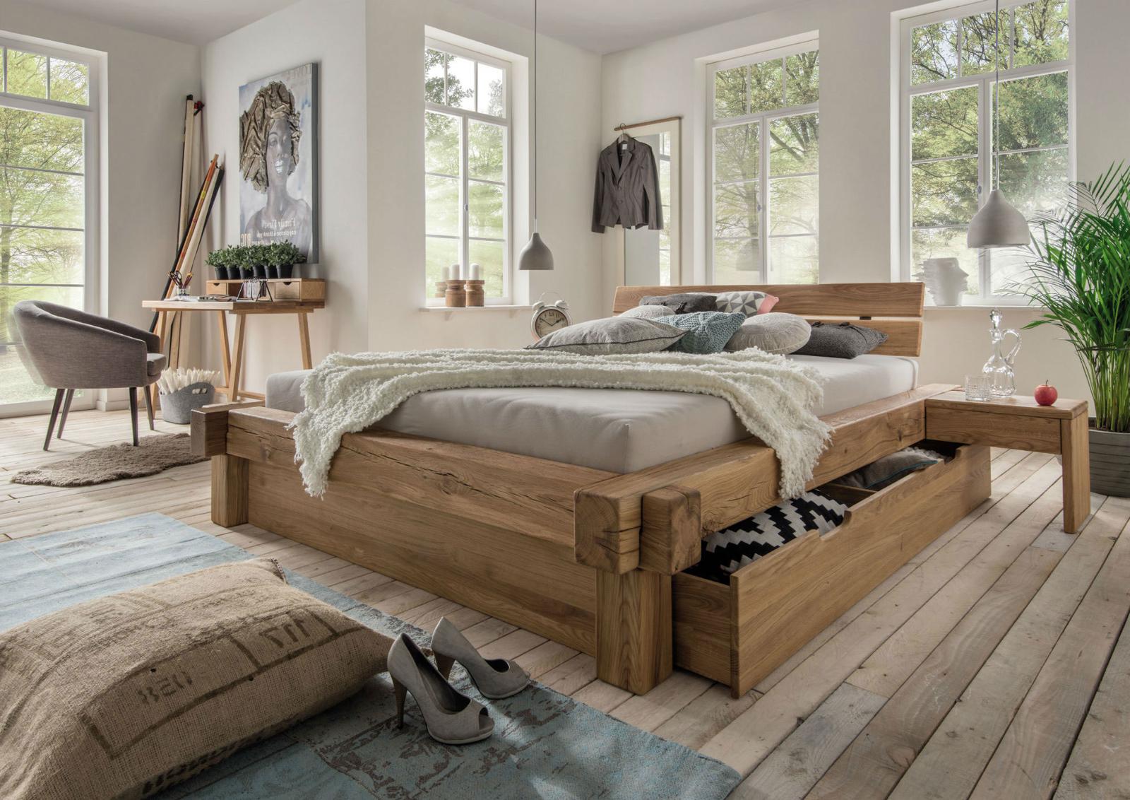 La Natura Balkenbett mit Schubkasten Bettkasten, Bild 2