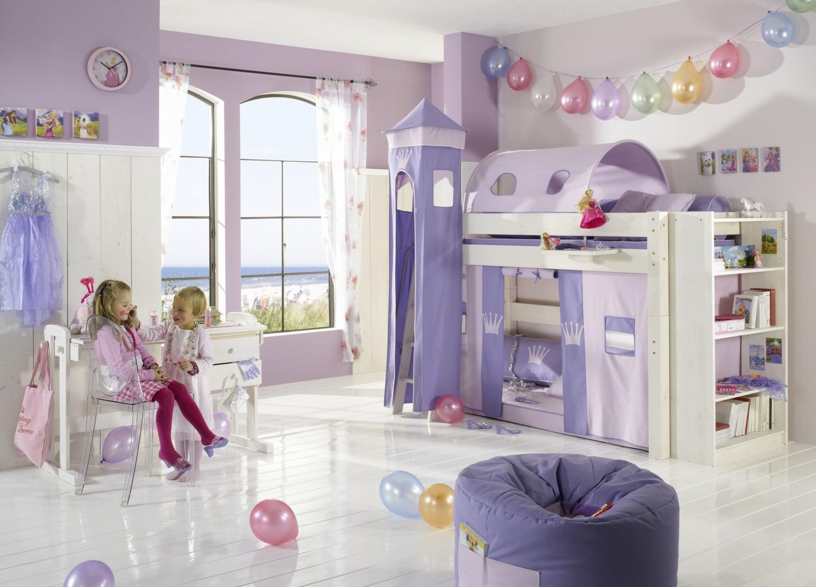 Dolphin Kinderzimmer Halbhochbett Lavendeltraum
