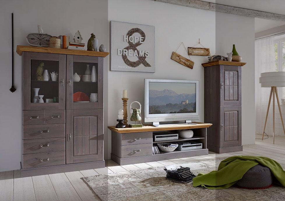 TV-Schrank Landhaus Lowboard Fjord, Bild 3