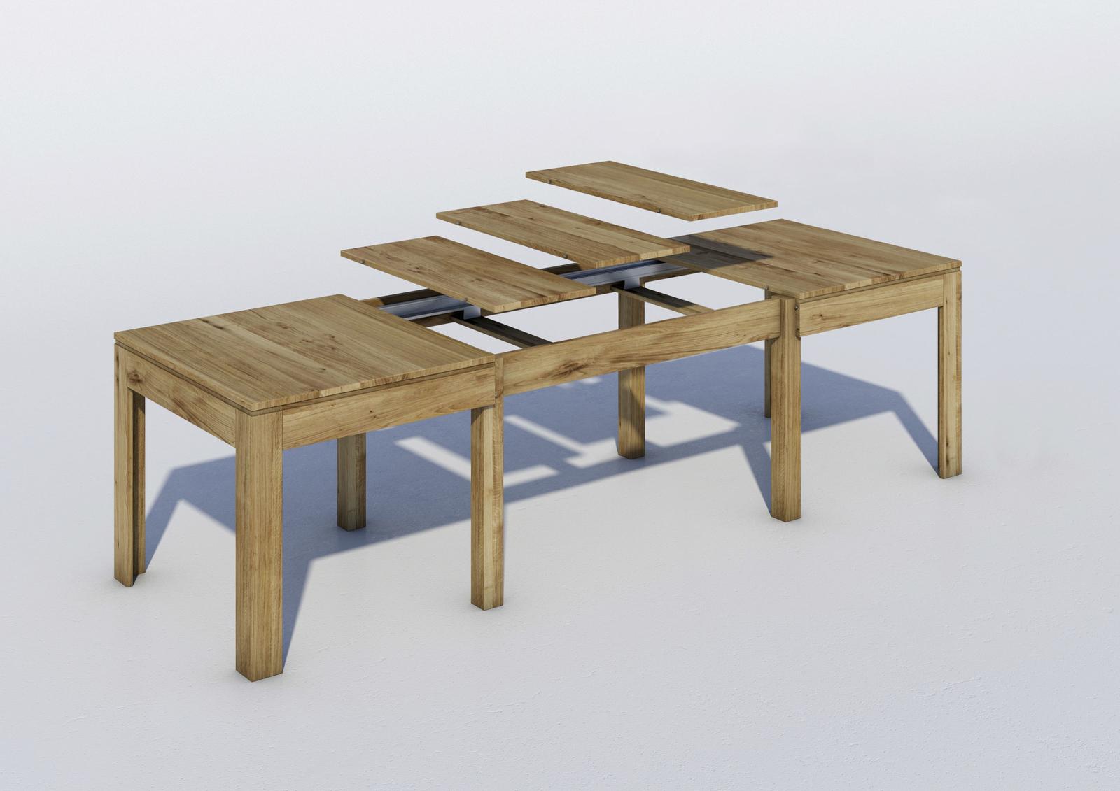 Entzückend Wildeiche Esstisch Ideen Von Massivholz Mit 3 Einlegeplatten
