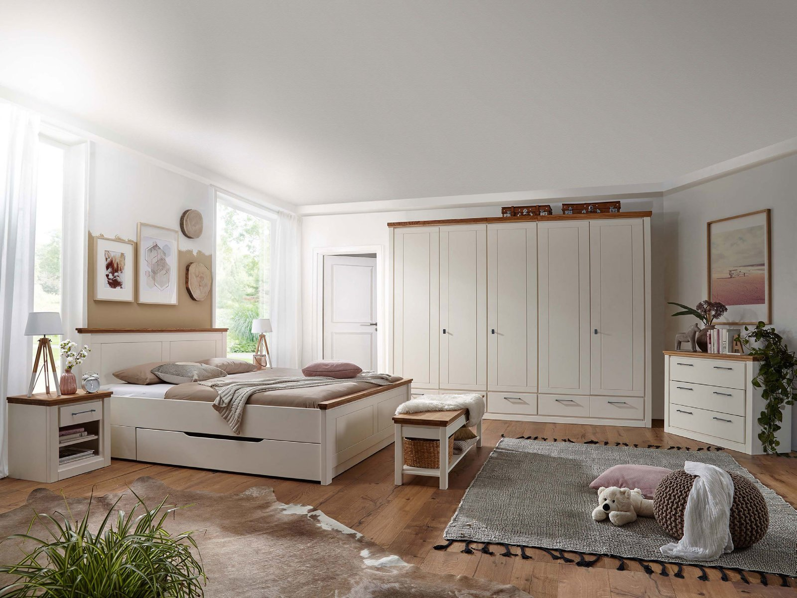 Massivholz Schlafzimmer Kiefer Blavand
