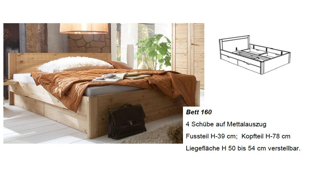 Massivholz Schlafzimmer Rauna Kiefer massiv von LUWO günstig ...