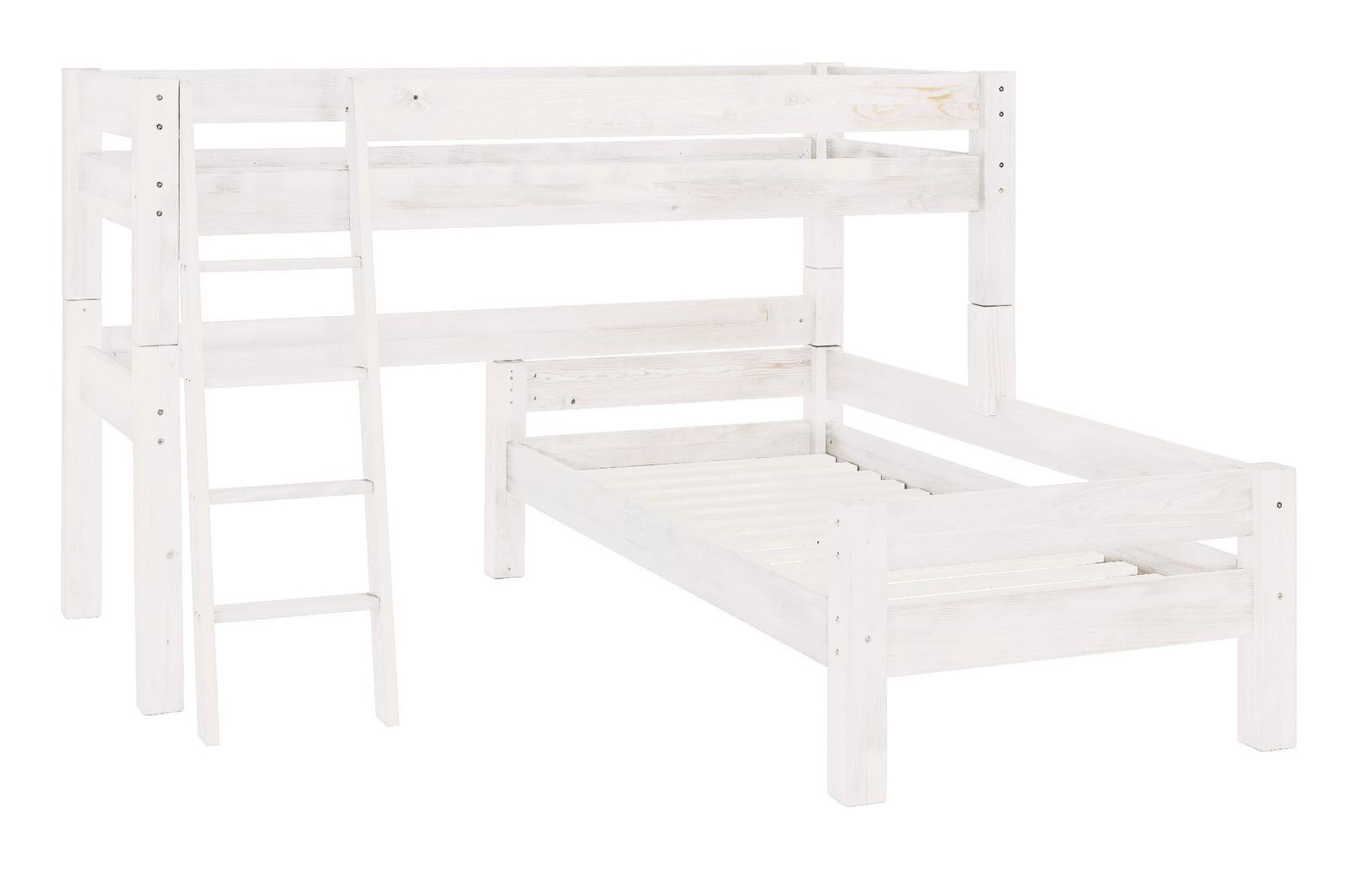Moby Midisleeper Hochbett über Eck mit Leiter und 2 Betten, Bild 2
