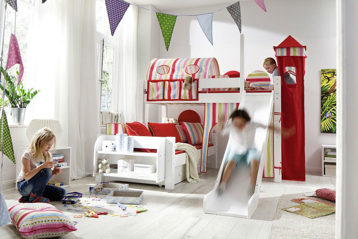 Moby Midisleeper Hochbett über Eck mit Leiter und 2 Betten, Bild 3