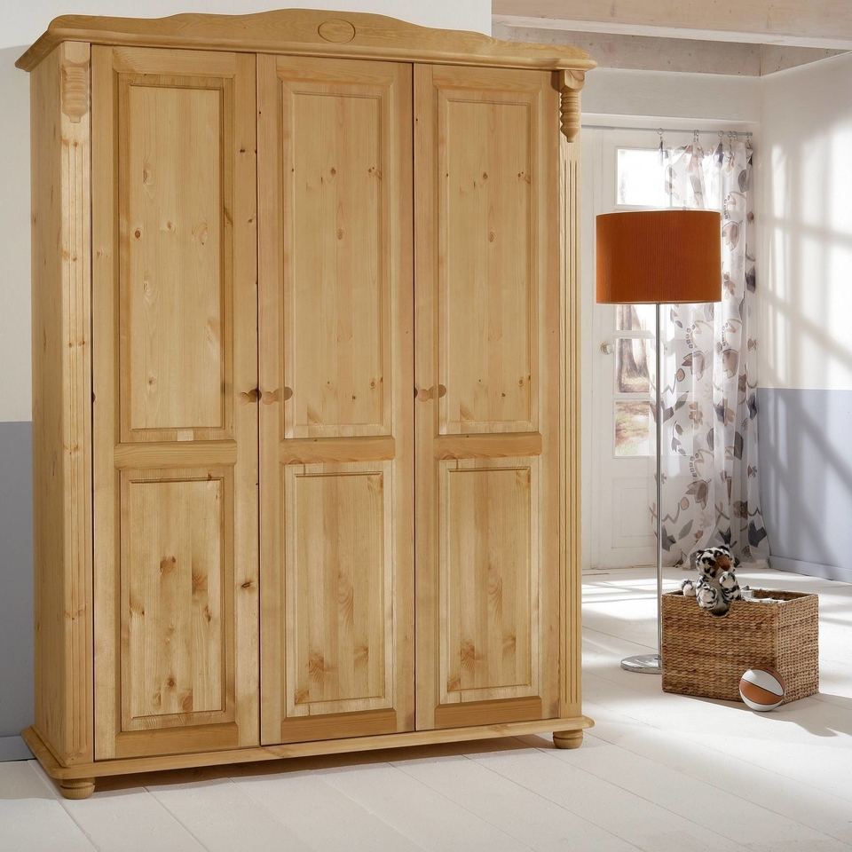 romantik kleiderschrank von pinus g nstig bestellen skanm bler. Black Bedroom Furniture Sets. Home Design Ideas