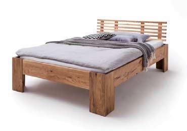 Schlafzimmer Doppelbett Wildeiche Massivholz Rödemis I, Bild 2