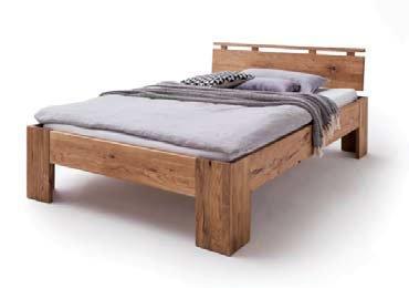 Schlafzimmer Doppelbett Wildeiche Massivholz Rödemis II, Bild 3