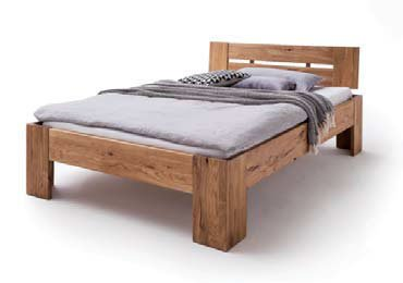 Schlafzimmer Doppelbett Wildeiche Massivholz Rödemis III, Bild 2