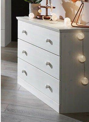 Schlafzimmer Waterkant Kiefer massiv weiß, Bild 4