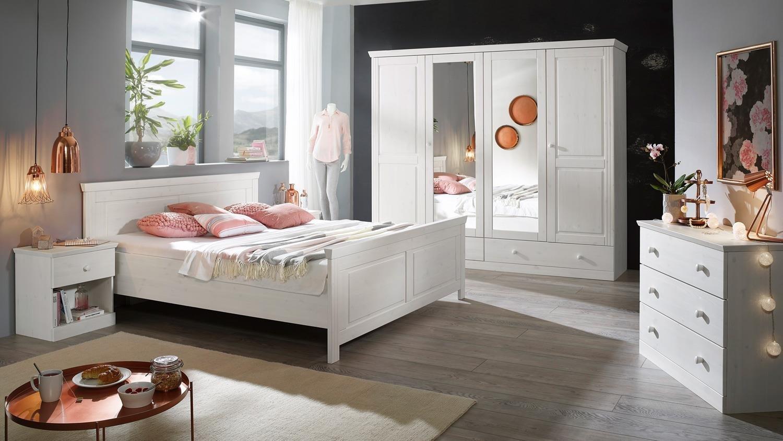 Schlafzimmer Waterkant Kiefer massiv weiß, Bild 2