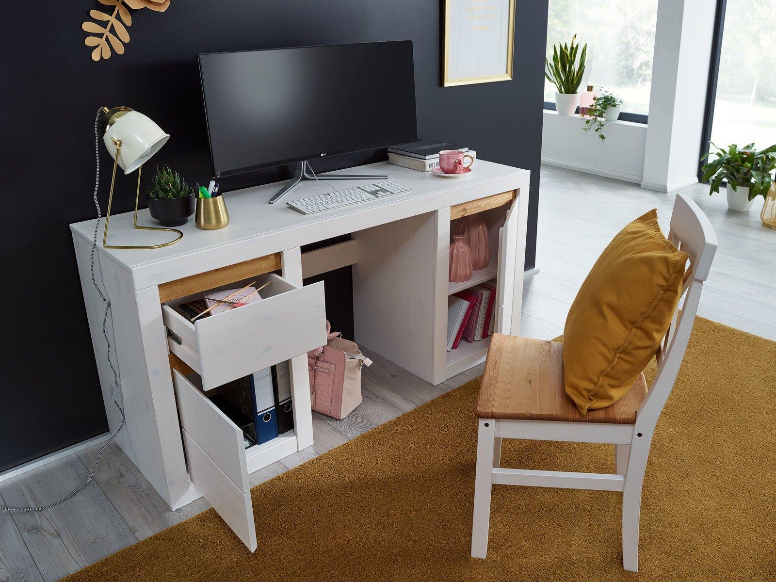 Schreibtisch Randers Massive Kiefer, Bild 2