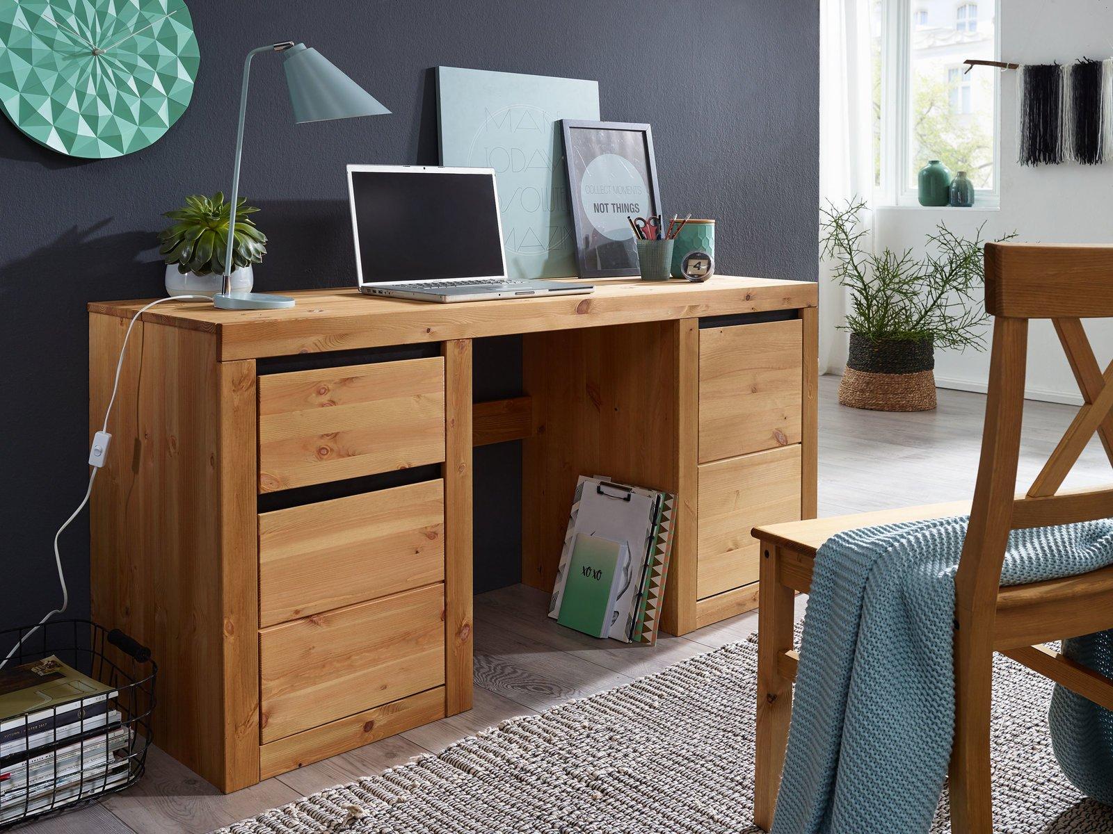 Schreibtisch Randers Massive Kiefer, Bild 3
