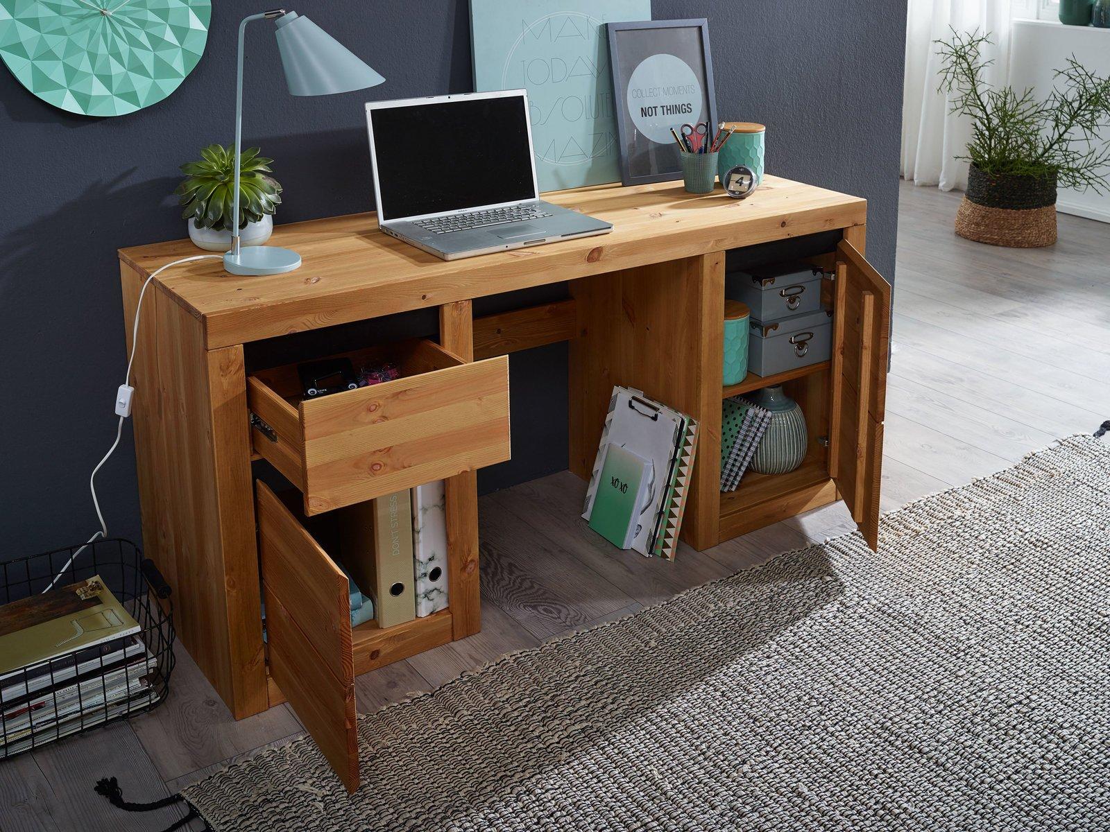 Schreibtisch Randers Massive Kiefer, Bild 4