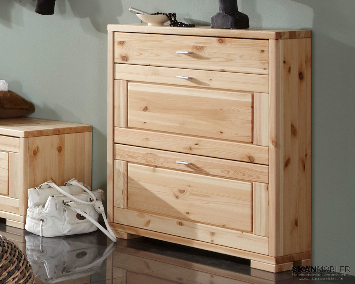 schuhkommode schuhschrank guldborg von pinus g nstig bestellen skanm bler. Black Bedroom Furniture Sets. Home Design Ideas